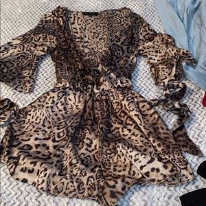 cheetah leopard print romper